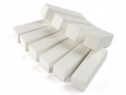 BTYMS 20pcs White Nail Art Buffer File Block Pedicure Manicure Buffing Sanding Care DIY