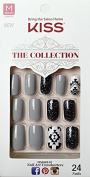 Kiss The Collection Nails (SSC03 - TEMPTATION) Medium Design Nails with Glue