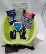 FOOT SPA - New Improved Model for 2016 - Ionic Cleanse Detox Foot Bath - Spa Chi Cleanse Unit for Home Use. NEW ERGONOMIC FOOT BASIN.