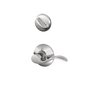 Schlage F59 ACC 625 LH Accent Interior Left-Handed Lever with Deadbolt, Bright Chrome