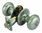 Design House 741322 Cambridge Entry Door Knob, Universal Latch, Satin Nickel Finish