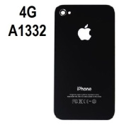 Black Cover Replacement Glass Back Battery Cover for iPhone 4 A1332