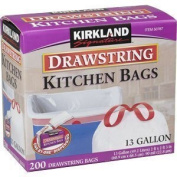 Kirkland Signature New Value Size Package Drawstring Kitchen Trash Bags - 49.2l - 400 Bags (