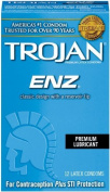 Trojan Condom ENZ Lubricated, 12 Count Pack of 6