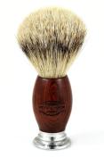 Otto Kampfe Safety Razor - 100% Silvertip Badger Bristle Shaving Brush with Real Mahogany Wood Handle