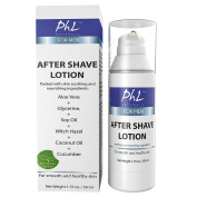 PhL Naturals After Shave Lotion for Men - Soothes Irritation from Shaving, Natural Unscented Formula Moisturises and Repairs Skin, Prevents Razor Burn, Leaves Skin Feeling Smooth and Soft 50ml