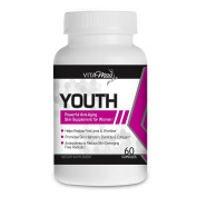 Vitamiss Youth – Anti-Inflammatory, Antioxidant & Anti-Ageing Supplement, 100% Natural Skin Rejuvenating Formula, Promotes Health Nails, Hair, and Immune System