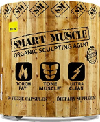 SMART MUSCLE - ORGANIC SCULPTING AGENT - Ultra Clean 2-in-1 Fat Burning + Muscle Toning Formula -100% Organic NON-GMO Ingredients - 60 Veggie Capsules