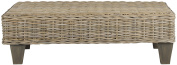 Safavieh Alexis Bench, Wood, White Washed Natural