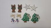 CraftbuddyUS 10 Iron On Stick, Sew On Christmas Motifs, Craft, Sewing, Embroidery Patches