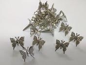 Silver 3d Butterfly Brads Paper Fasteners Scrapbooking