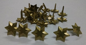 3d Star Brads Brushed Gold - 25pc