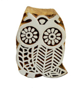 Decorative Indian Wooden Textile Stamps Wood Printing Block Bird Owl Stamp