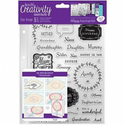 CE907108 Creativity Essentials A5 Clear Stamps - Female Family