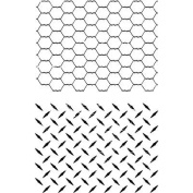 Ultimate Crafts Background Stamps 10cm x 15cm -Checker And Chicken