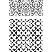 Ultimate Crafts Background Stamps 10cm x 15cm -Jewelled Lattice