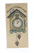 Stampington And Co Little King boy in a manger Wood Mount Rubber Stamp