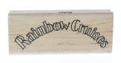Stampington And Co Rainbow Cruises Wood Mount Rubber Stamp