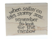 Stampington And Co Life's Stormy Seas Karen Foster Wood Mount Rubber Stamp