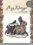 Amy Design Winter Cling Stamp Snow Rabbit ADST10006