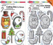 Stampendous Winter Friends Stamps & Dies Set - 2 Item Bundle