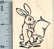 Bunny in Human Slippers Rubber Stamp, Parallel Universe Series