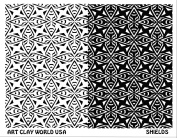 Art Clay World USA Low Relief Texture Shields - 1 Pc.
