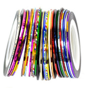 Jocestyle 30 Colours Rolls Striping Tape Line Nail Art Tips DIY Decoration Sticker for Beauty