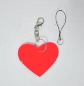 Treading(TM) Heart model Reflective pendant,Reflective keychain for visible safety dangled on bag,mobile phone,clothing.
