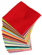 DIY Polyester Felt Nonwoven Fabric Sheet for Craft Work Type A Super Soft 50 Colours, Squares,10x10cm/4x4inch, About 1.5mm Thick