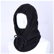 Yiuswoy Outdoor Sports Mask Winter Warm Tactical Balaclava Thicken Warm Full Face Cover Windproof Face Ski Mask for Unisex Adult - Black