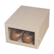 Richards Homewares Loft Arrow Drop Front Shoe Storage Perfect shoe size Beige