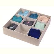 9 Compartment Sock Drawer Organiser