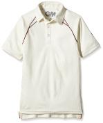 Gunn and Moore Boy's Teknik Club Short Sleeve Cricket Shirt