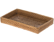 KOUBOO 1030063 Laguna Handwoven Rattan Small Vanity Tray, Honey Brown
