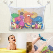 Baby/Toddler Bath Tub Toys Organiser - New Design 4 Suction Cups + 2 Extra Strong Suction Cups! Large Storage/Bag for Toys Even as a Shower Caddy! Mould Free Playtime for Bathtime!