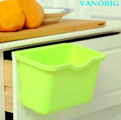 Creative Plastic Basket Wastebaskets VANORIG Multifuctional Hanging Trash Can Waste Bins Deskside Recycling Garbage Bowls Can Containers ,Pack of 3