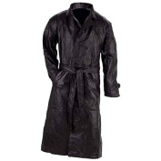 Giovanni Navarre Leather Trench Coat - 2X