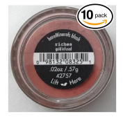 (PACK OF 10) Bare Minerals / Bare Escentuals RICHES (42757) Blush Makeup. Gold Infused! WARM EARTH PINK. Ideal for ALL Skin Types.
