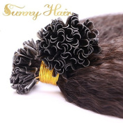 Sunny 46cm Brazilian Remy Human Hair Extensions Nail U Tip Hair Afro Kinkys Straight Real Human Hair Extensions Natural Black 1g/strand 50g/lot