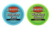 O'Keeffe's Working Hands 100ml & Healthy Feet 90ml Combination Pack of Jars