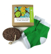 Rough Pumice Stone For Feet and Moisturising Gel Heel Socks For Cracked Skin On Foot