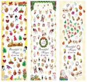 Leoy88 1 Sheet Christmas Nail Art Decal Sticker