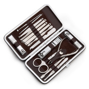 Nail Art Manicure Kit Finger Nail Care Tools, Chrome Steel 15 a combination,