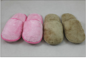 Indoor Slipper Fuzzy Xtra Soft Plush Cushion - Brown 7-8