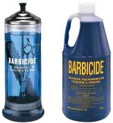 Barbicide Disinfectant Jar, Solution 1.89L For Salon Spas Medical Athletic Tools CODE