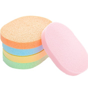 2PCS Body Face Facial Makeup /Discharge Makeup Beauty Sponges/Seaweed Facial Cleaning Sponges for Home Colour by Random