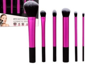Makeup Face Brush Set - 6 Essential Makeup Brushes , - Powder Brush, Foundation Brush, Blusher, Eyebrow, Lip, Eyeliner- Last Longer, Apply Better Makeup