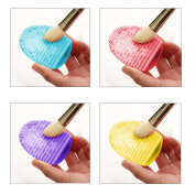 CY 1 set of 4ps Silicone Brushes Cleaner Cosmetic Makeup Washing Brush Cleaner Finger Glove Hand Cleaning Tool