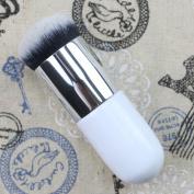 Pro Big Silver Tube Brush Foundation Face Powder Comestic Tool Makeup Flat